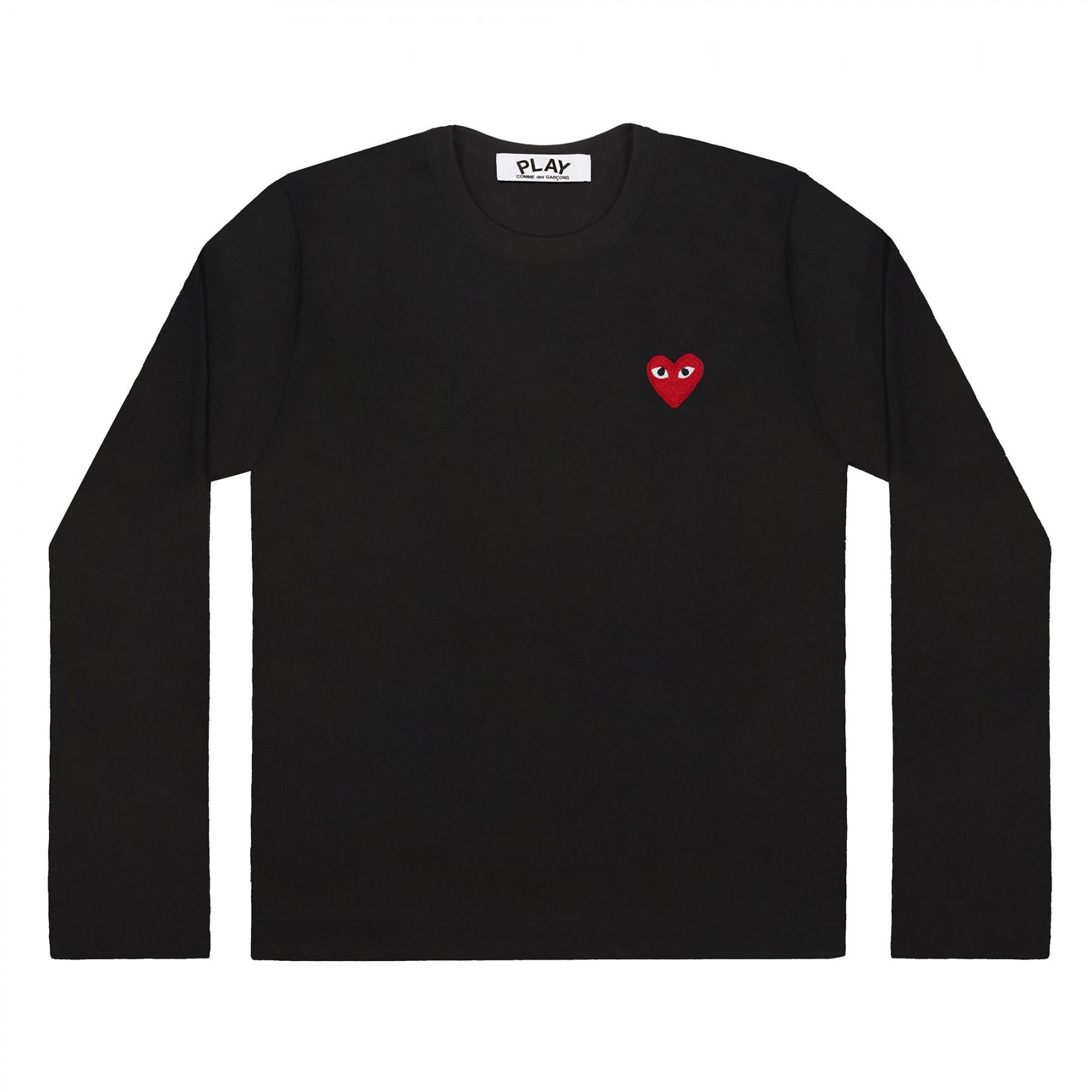 꼼데가르송 PLAY 블랙 티셔츠 원포인트 레드하트 (남성)