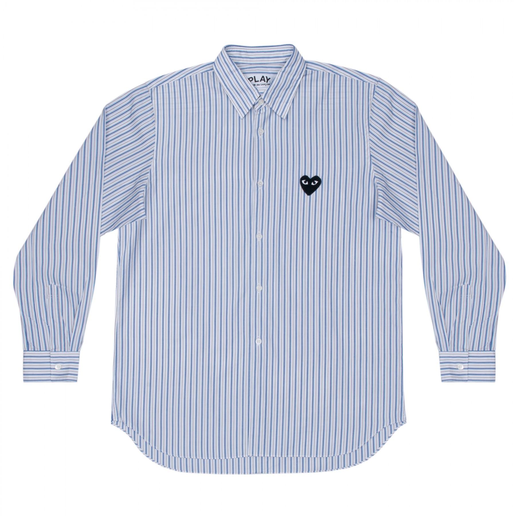 꼼데가르송 PLAY 스트라이프 와이셔츠 (남성)