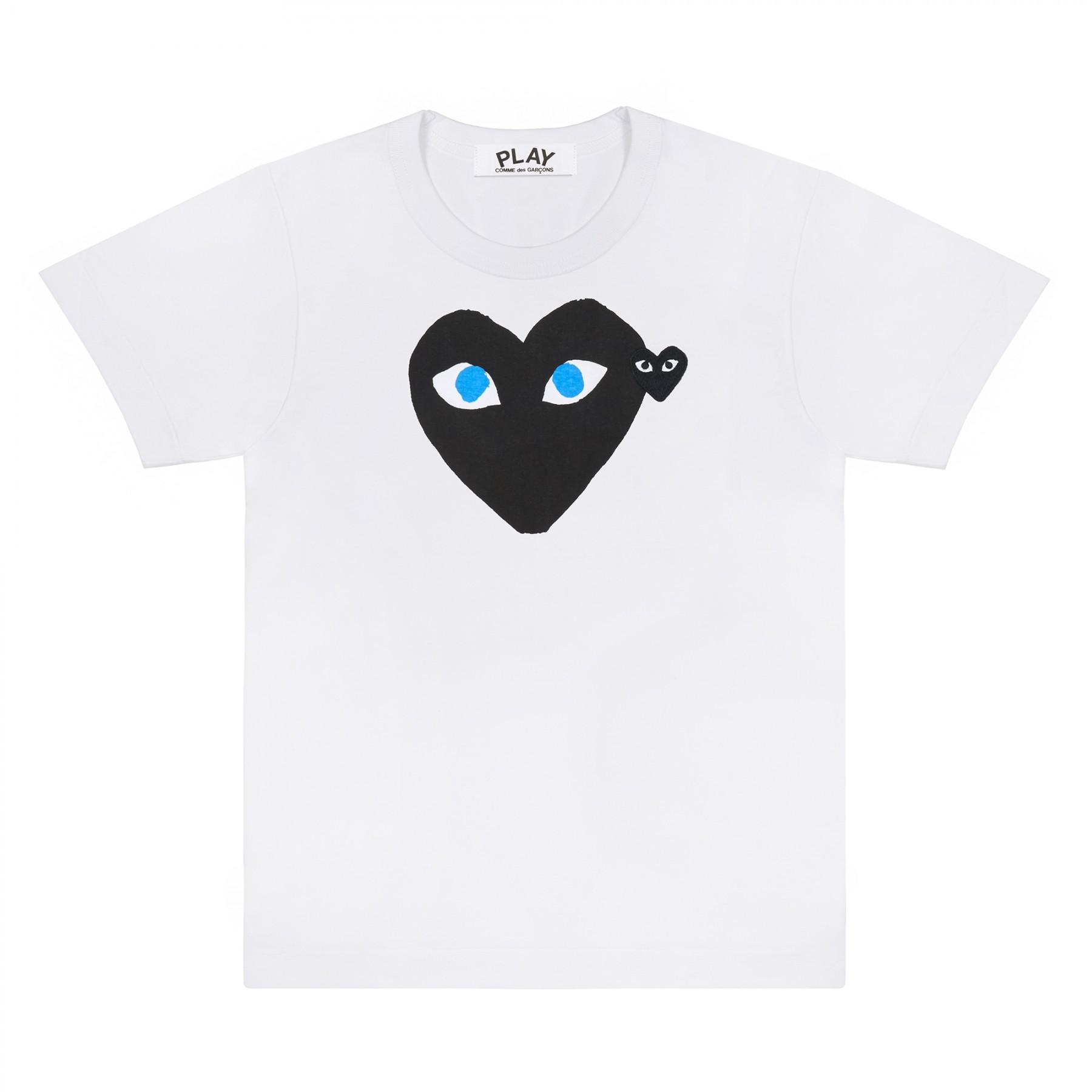 꼼데가르송 PLAY 티셔츠 블랙하트 블루아이 (여성)