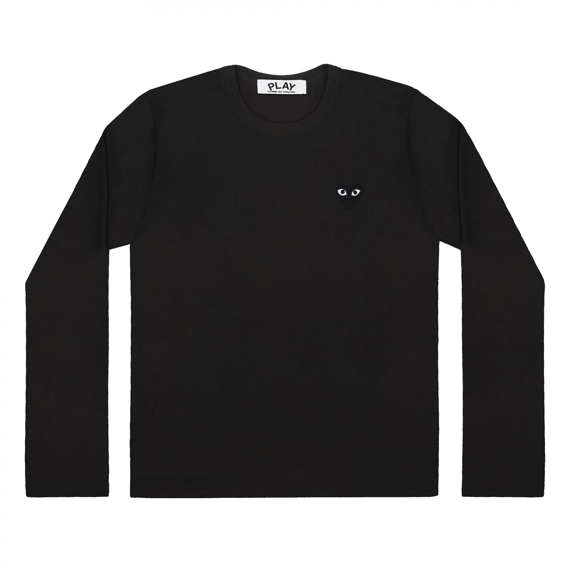 꼼데가르송 PLAY 블랙 티셔츠 원포인트 블랙하트 (여성)