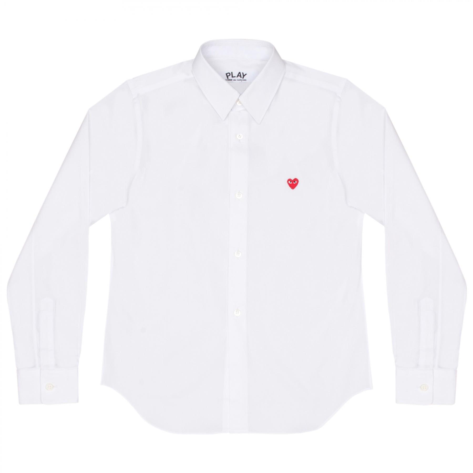 꼼데가르송 PLAY 와이셔츠 리틀 레드하트 (여성)