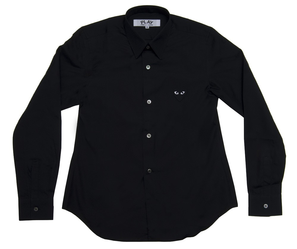 꼼데가르송 PLAY 블랙 와이셔츠 블랙하트 (여성)