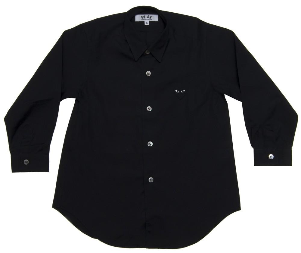 꼼데가르송 PLAY 블랙 와이셔츠 블랙하트