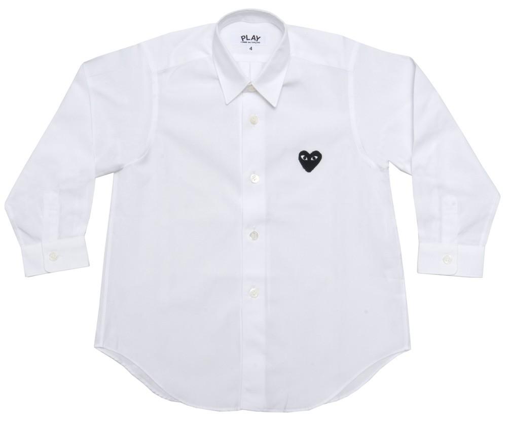 꼼데가르송 PLAY 화이트 와이셔츠 블랙하트