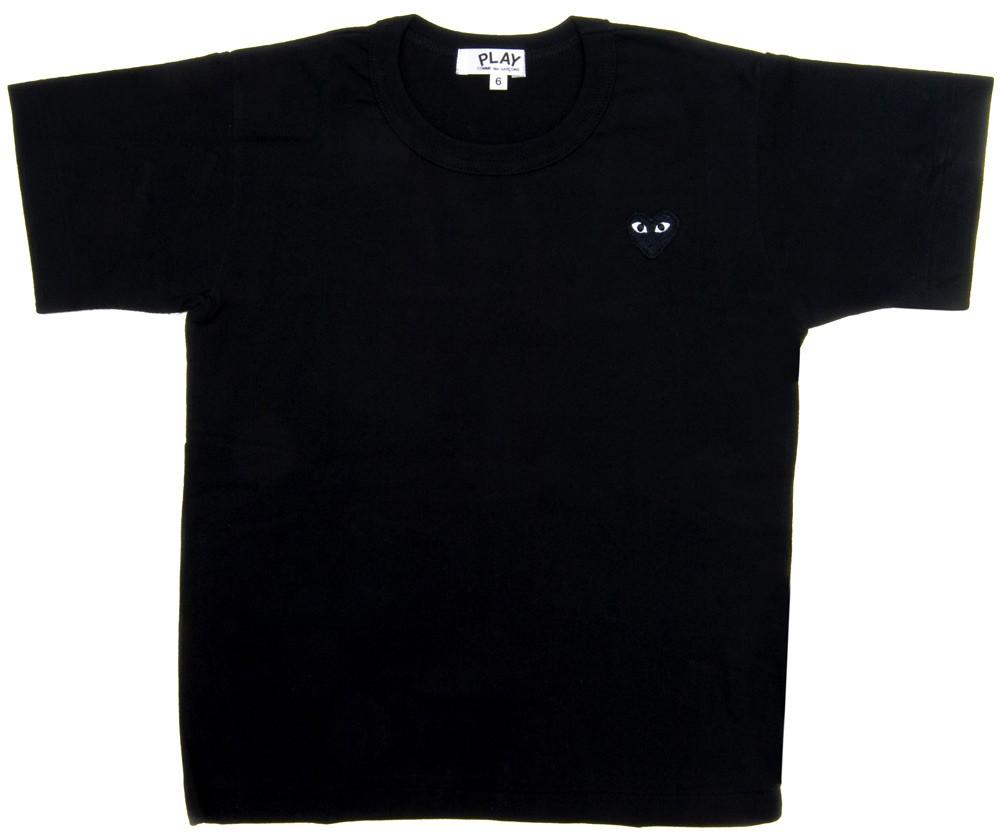 꼼데가르송 PLAY 블랙 티셔츠 원포인트 블랙