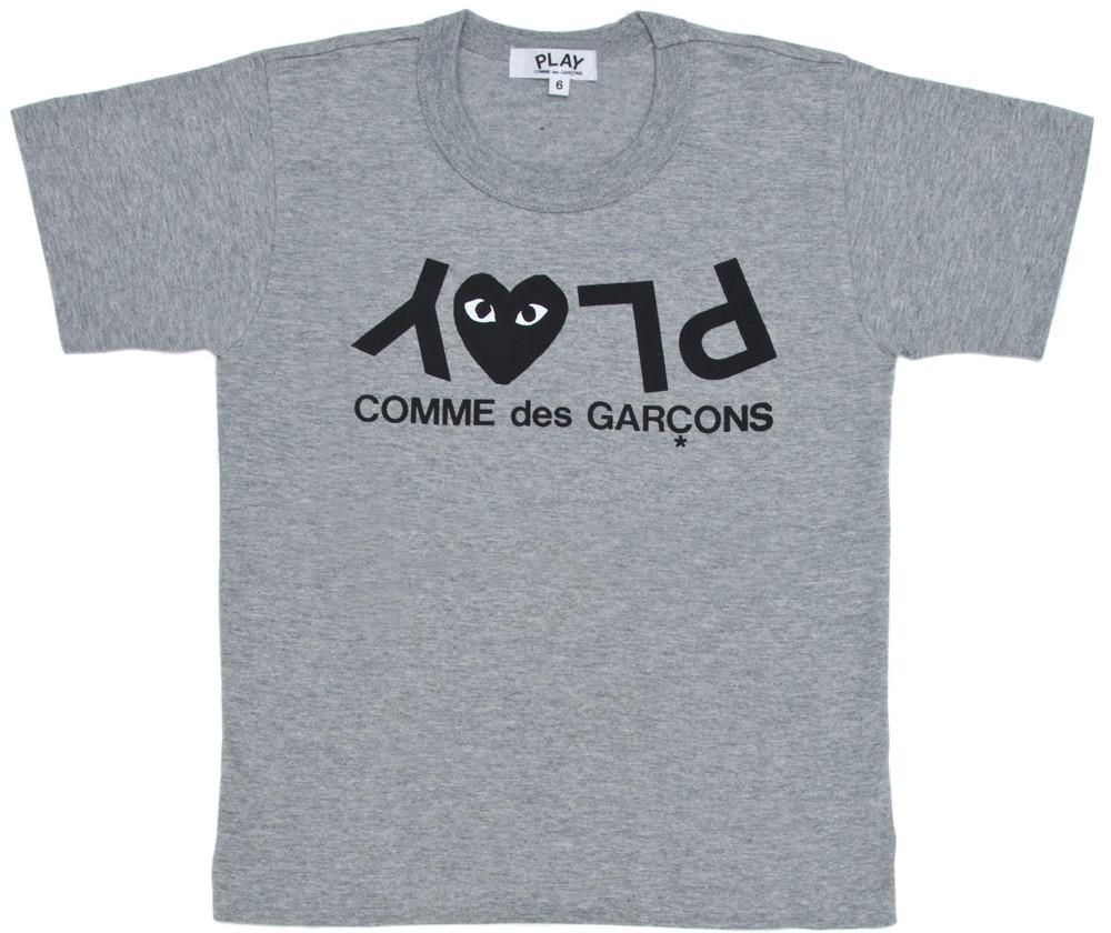 꼼데가르송 PLAY 그레이 티셔츠 로고하트